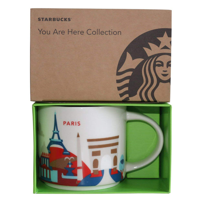 Starbucks You Are Here Paris Ceramic Coffee Mug New with Box