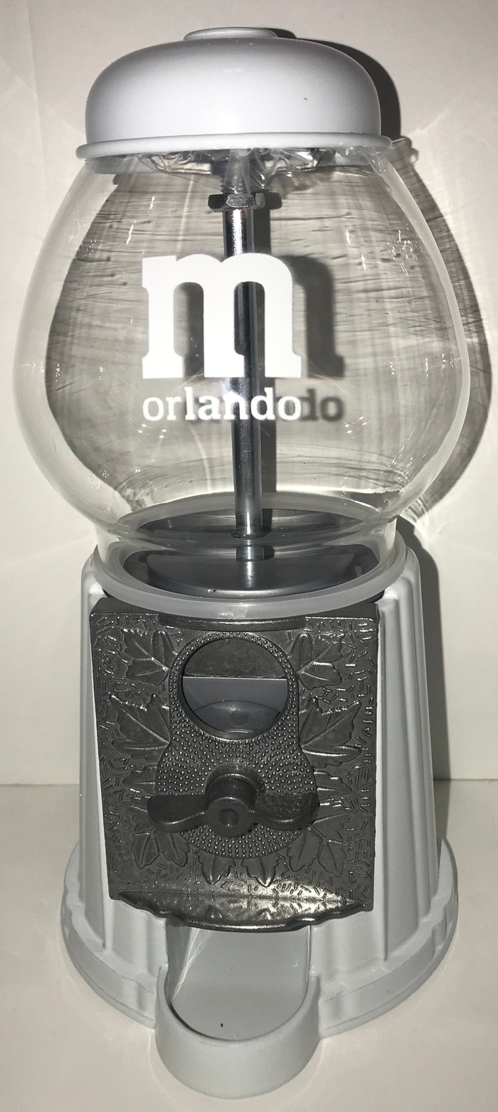 M&M's Orlando Retro Gumball Style Machine Candy Dispenser New with Tags