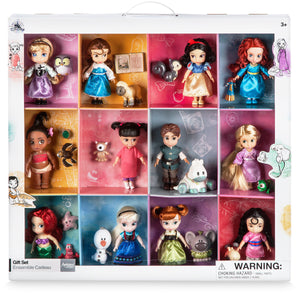 Disney Store Animators' Collection Mini Doll with Friends Gift Set New with Box