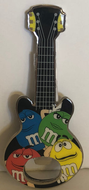 M&M's World Characters Guitar Metal Bottle Opener Magnet New