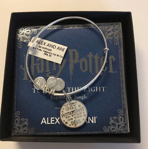 Alex and Ani Harry Potter Turn on the Light Bangle Silver Finish New with Box
