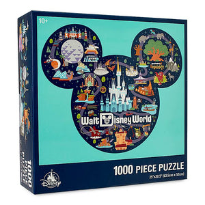 Disney Parks Life Mickey Mouse Icon Walt Disney World Map Puzzle New