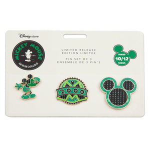 Disney Store Mickey Mouse Memories October Limited Pin Set New Sealed