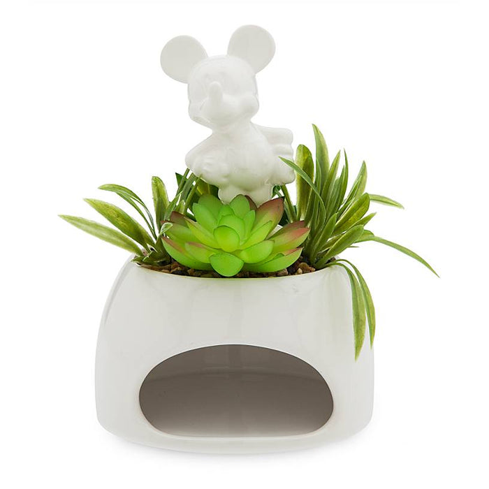Disney Eats Mickey Mouse Ceramic Pot and Faux Succulent New