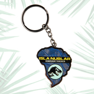Universal Studios Jurassic World Isla Nublar Glow-In-The-Dark Keychain New Tags
