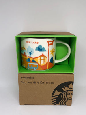 Starbucks Coffee You Are Here Series Thailand Ceramic Coffee Mug New with Box
