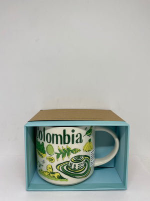 Starbucks Been There Series Colombia Ceramic Coffee Mug New with Box