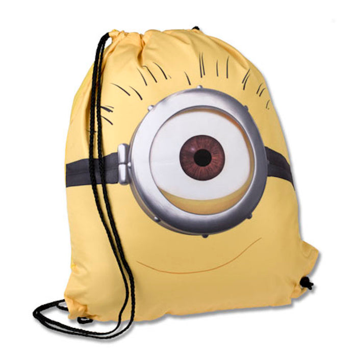 Universal Studios Despicable Me One-Eye Minion Drawstring Backpack New with Tags