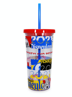 Disney Parks Disneyland 2021 Mickey and Friends Tumbler with Straw New