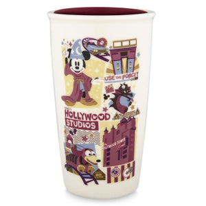 Disney Starbucks Hollywood Studios Attractions Coffee Tumbler Travel Mug New