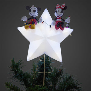 Disney Mickey and Minnie Mouse Light-Up Holiday Tree Topper New with Box