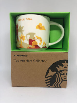 Starbucks You Are Here Collection Spain Barcelona Ceramic Coffee Mug New W Box
