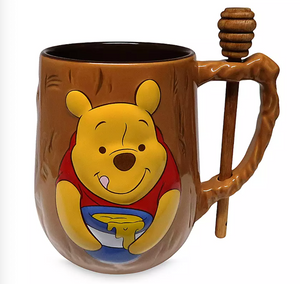 Disney Winnie the Pooh Mug and Honey Dipper Set New with Box