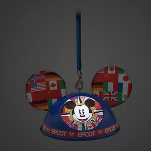 Disney Parks Epcot Showcase Mickey Light Up Ear Hat Ornament New with Tag