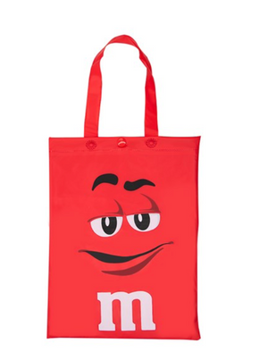 M&M's World Red Characters Poncho in Tote Bag One Size New with Tag