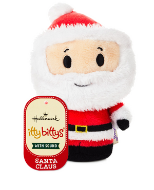 Hallmark Christmas Santa Claus Talking Itty Bittys Plush New with Tag