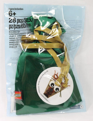 Lego 5005253 Bag with Reindeer 2018 Christmas Ornament 28 Pieces New with Tags
