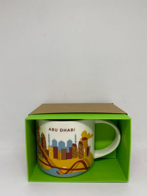 Starbucks Coffee You Are Here Abu Dhabi Ceramic Coffee Mug New with Box