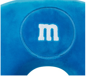 M&M's World Blue Characters Memory Foam Travel Neck Pillow New with Tag