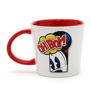Disney Parks Mickey Mouse Oh Boy Pop Art Ceramic Coffee Tea Mug New