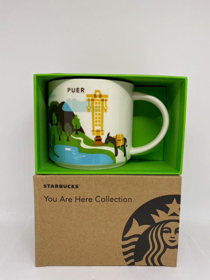 Starbucks You Are Here Collection Puer China Ceramic Coffee Mug New With Box