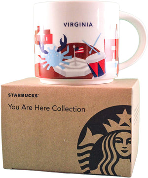 Starbucks You Are Here Virginia Ceramic Coffee Mug New with Box