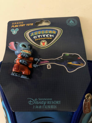 Disney Parks Shanghai Stitch Play Mat Tote with Figurine New with Tags