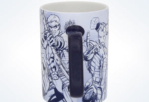 Disney Parks Marvel Avengers Assemble Sketch Ceramic Coffee Mug New