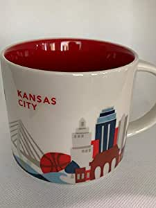 Starbucks You Are Here Kansas City Kansas Ceramic Coffee Mug New with Box