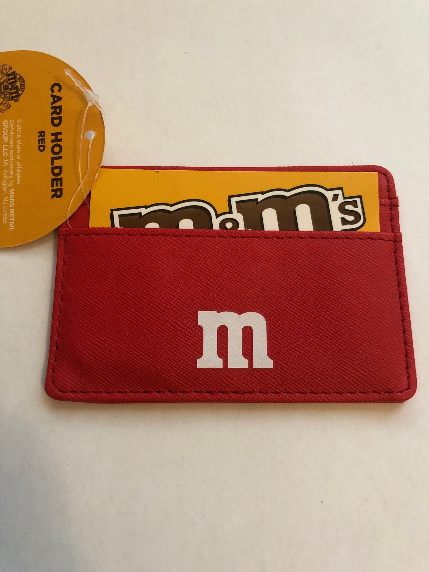 M/&M/'s World Red Character Small Card Holder New with Tags