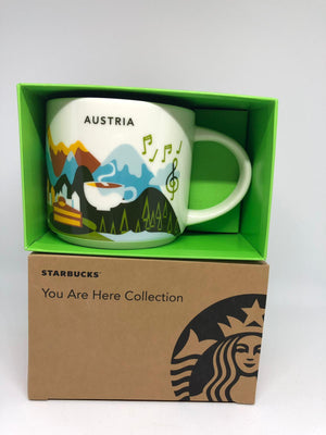 Starbucks You Are Here Collection Austria Ceramic Coffee Mug New with Box