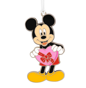 Hallmark Disney Mickey with Heart Metal Ornament New with Card