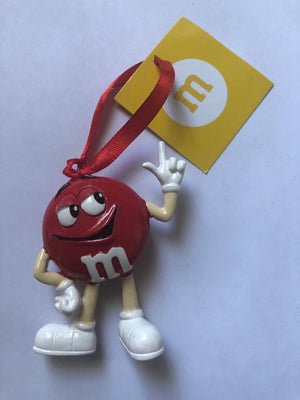 M&M's World Red Character Resin Christmas Ornament New with Tag