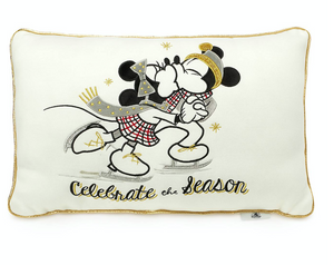Disney Mickey and Minnie Christmas Holiday Celebrate the Season Throw Pillow New