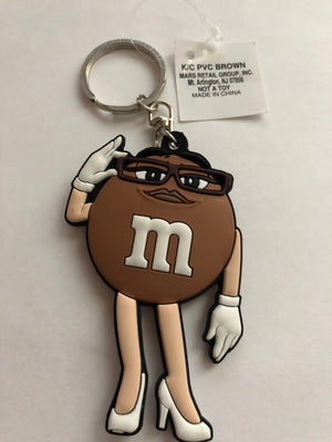 M&M's World Brown Character PVC Keychain New with Tag