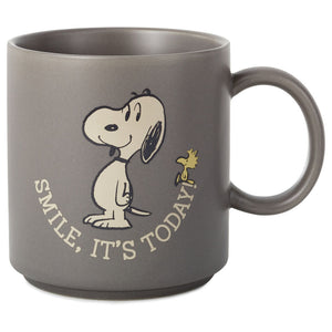 Hallmark Peanuts Snoopy Smile It's Today Mug New