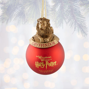 Universal Studios Harry Potter Gryffindor House Ball Christmas Ornament New Tag