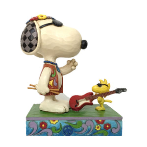 Jim Shore Peanuts Snoopy and Woodstock Concert Critters Figurine New with Box