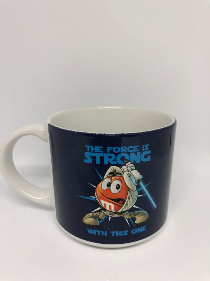 M&M's World Orange Star Wars the Force is Strong with This One Coffee Mug New