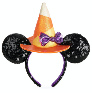 Disney Parks Minnie Mouse Halloween 2020 Witch Sequined Ear Headband Adults New