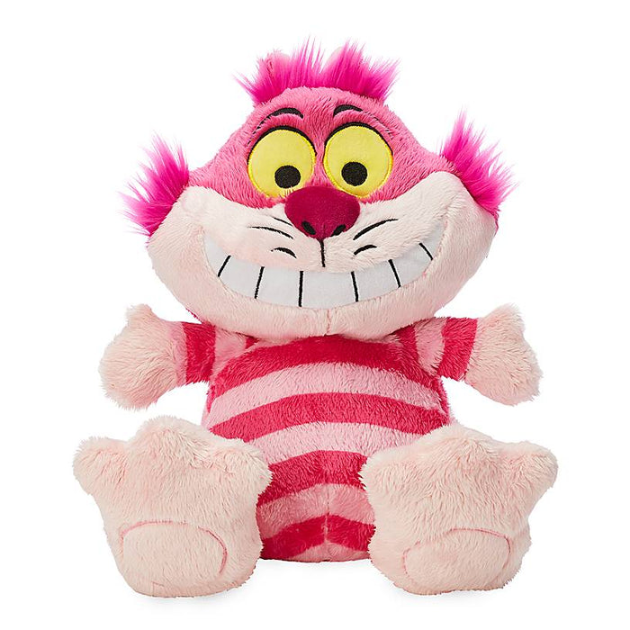 "Disney Parks Alice in Wonderland Cheshire Cat Big Feet 11"" Plush New with Tag"