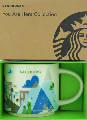 Starbucks You Are Here Collection Salzburg Ceramic Coffee Mug New with Box