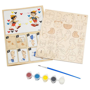 Disney Parks Ink & Paint Pinocchio 3D Wood Model and Paint Set New Sealed
