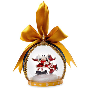 Disney Parks Turn of the Century Holiday Mickey Minnie Santa Globe Ornament New