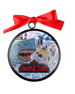 Universal Studios Retro Jaws Ceramic Christmas Ornament New with Tag