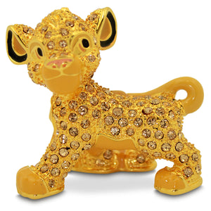 Disney The Lion King Simba Jeweled Figurine by Arribas Brothers New