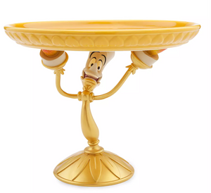 Disney Beauty and the Beast Lumiere Deluxe Serving Platter Cake Stand New