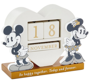 Hallmark Disney Mickey and Minnie Happy Together Perpetual Calendar New