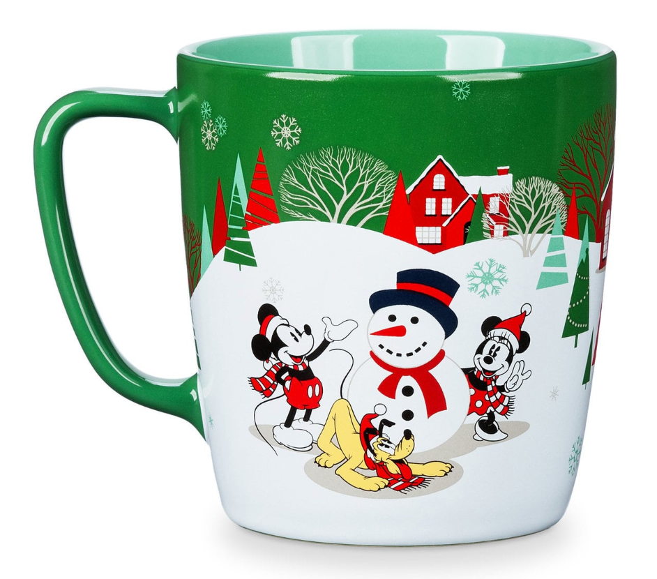 Christmas Coffee Mugs.Disney Store Mickey And Friends Green Holiday Christmas Coffee Mug New
