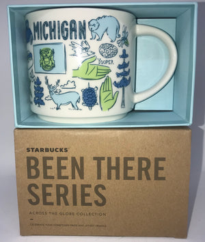 Starbucks Been There Series Collection Michigan Coffee Mug New With Box